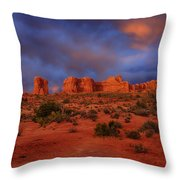 Arches Last Light Throw Pillow by Greg Norrell