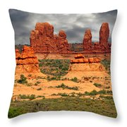 Arches National Park - A Picturesque Drama Throw Pillow