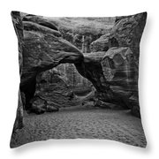 Arches National Park Black And White Throw Pillow