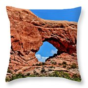 Arches National Park Painting Throw Pillow