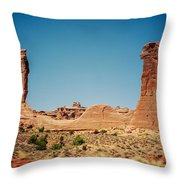 Arches Np II Throw Pillow