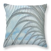 Arches Of Steel Throw Pillow