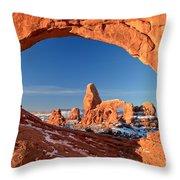 Arches Sandstone Frame Throw Pillow