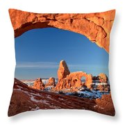 Arches Window Frame Throw Pillow