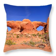 Arches Windows Throw Pillow