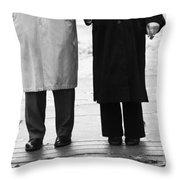 Archie N Edith Throw Pillow