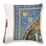 Architectural Details From The Mesdjid I Shah Throw Pillow