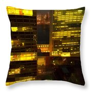 Architectural Fantasy - Perspective And Color Throw Pillow