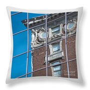 Architectural Juxtaposition Throw Pillow
