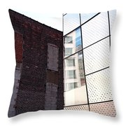 Architectural Juxtaposition On The High Line Throw Pillow