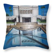 Architectural Landscape Throw Pillow