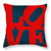 Architectural Love Throw Pillow
