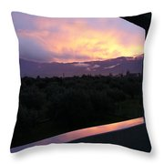 Architectural Sunset Throw Pillow