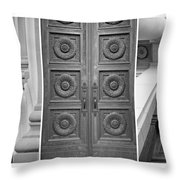 Architectural Triptych Throw Pillow