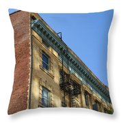 Architectural Watercolor Effect Throw Pillow