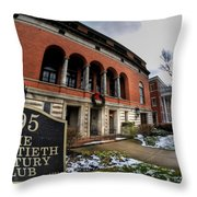 Architecture And Places In The Q.c. Series 01 The Twentieth Century Club Throw Pillow