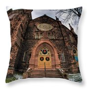 Architecture And Places In The Q.c. Series 01 Trinity Episcopal Church Throw Pillow