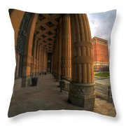 Architecture And Places In The Q.c. Series 03 City Hall Throw Pillow