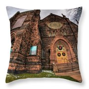 Architecture And Places In The Q.c. Series 03 Trinity Episcopal Church Throw Pillow