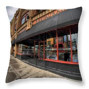 Architecture And Places In The Q.c. Series Bacchus Restaurant Throw Pillow