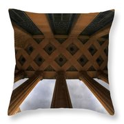 Architecture And Places In The Q.c. Series City Hall Throw Pillow