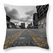 Architecture And Places In The Q.c. Series Delaware And Chippewa Throw Pillow