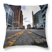 Architecture And Places In The Q.c. Series Delaware To Heart Of Queen City Throw Pillow