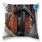 Architecture And Places In The Q.c. Series Prima Pizza 01 Throw Pillow