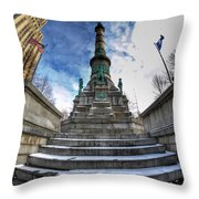 Architecture And Places In The Q.c. Series  Soldiers And Sailors Monument In Lafayette Square Throw Pillow
