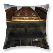Architecture And Places In The Q.c. Series The Statler Towers Throw Pillow