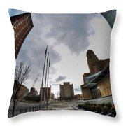 Architecture And Places In The Q.c. Series War Of Architecture  Throw Pillow