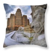 Architecture And Places In The Q.c. Series When The Lions Rest Throw Pillow