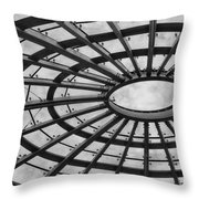 Architecture Ceiling In Black And White Throw Pillow