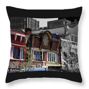 Architecture Color Throw Pillow