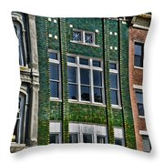 Architecture - Early City Buildings - Luther Fine Art Throw Pillow