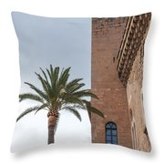 Architecture In Old Palma. Throw Pillow