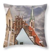 Architecture In Riga Latvia Throw Pillow