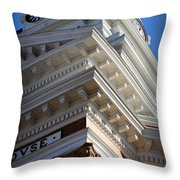 Architecture In The Morgan County Court House Throw Pillow