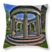 Architecture Of Forest Lawn  Throw Pillow