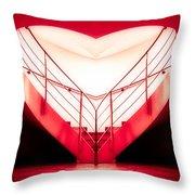 architecture's valentine - redI Throw Pillow