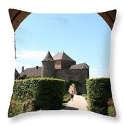 Archway Chateau Of Berze Throw Pillow