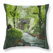 Archway In Central Park Throw Pillow