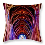Archway In Grace Cathedral In San Francisco-california Throw Pillow