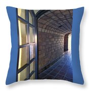 Archway In Mission Inn Riverside Throw Pillow