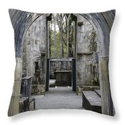 Archway Muckross Abbey Throw Pillow