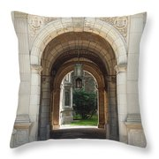 Archway To Courtyard Throw Pillow