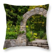 Archway To The Secret Garden Throw Pillow