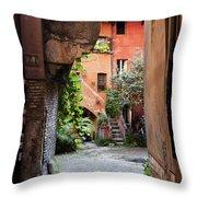 Arco Degli Acetari Throw Pillow