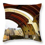 Arcosanti Throw Pillow