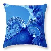 Arctic Blue Throw Pillow